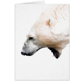 Polar bear growl greeting card