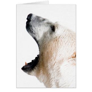 Polar bear growl cards