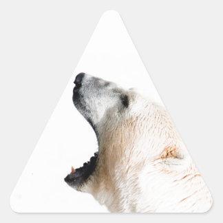 Polar bear growl triangle sticker