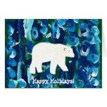 Polar Bear, Happy Holidays! Note Card