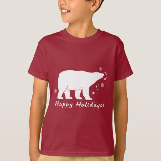 Polar Bear Happy Holidays T-Shirt