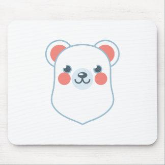 Polar Bear Head Mouse Pad