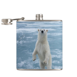 Polar Bear Hip Flask