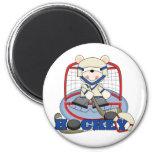 Polar Bear Hockey Goalie Tshirts and Gifts Magnet