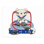 Polar Bear Hockey Goalie Tshirts and Gifts Postcard