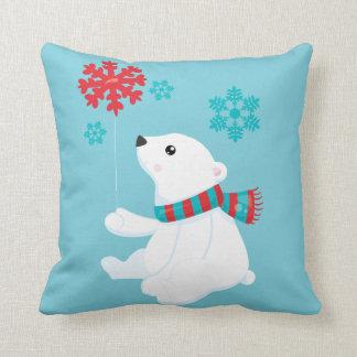 Polar Bear | Holiday Christmas Cushion