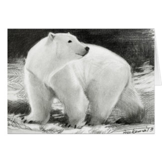 Polar Bear Holiday Customisable Card