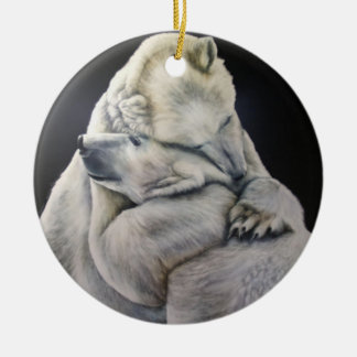 Polar Bear Hug Ornament