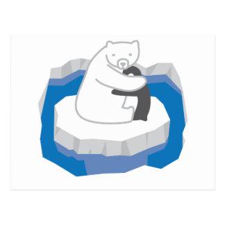 Polar Bear Hug Postcard