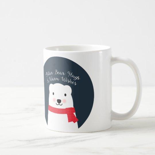 Polar Bear Hugs and Warm Wishes Coffee Mug