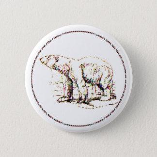 Polar Bear I 6 Cm Round Badge