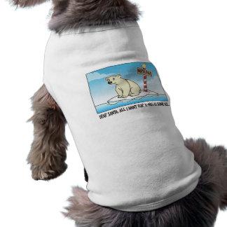 Polar Bear Ice Christmas Sleeveless Dog Shirt