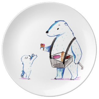 Polar Bear Ice Cream Plate