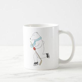 Polar Bear Ice Hockey Mug Hokey Playing Polar Bear