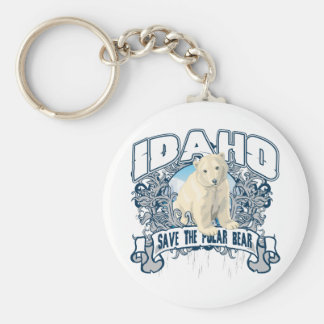 Polar Bear Idaho Key Ring