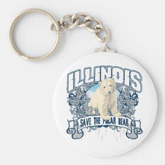 Polar Bear Illinois Keychains