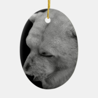 Polar Bear in Black and White Ornaments