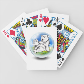 polar Bear in bubble Bicycle Playing Cards