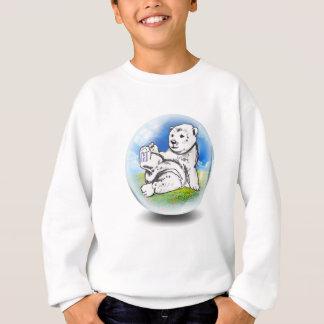 polar Bear in bubble Sweatshirt