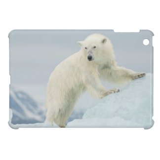 Polar bear in summer iPad mini cover