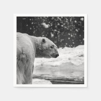 Polar Bear in the Snow Disposable Napkin