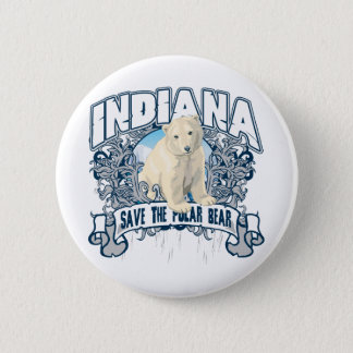 Polar Bear Indiana 6 Cm Round Badge