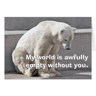 Polar Bear is missing you Greeting Card