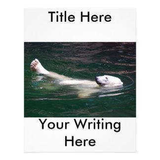 Polar bear just lazing 21.5 cm x 28 cm flyer