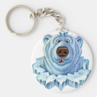 polar bear key ring