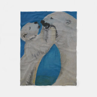 Polar Bear - Kiss Mummy Fleece Blanket