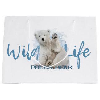 Polar bear large gift bag