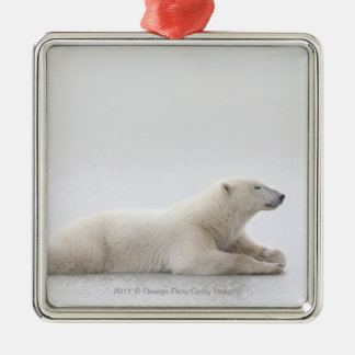 Polar Bear Laying On A Lake Of Ice Christmas Ornament