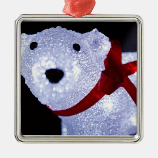 POLAR BEAR LIGHTS CHRISTMAS ORNAMENT