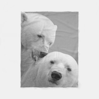 Polar bear Love and Complicity Fleece Blanket