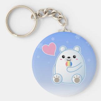 Polar Bear Love Key Ring