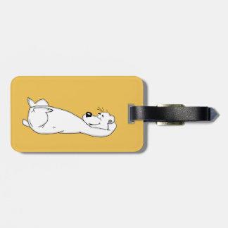 Polar bear luggage tag