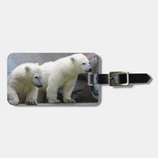 Polar Bear Luggage Tag w/ leather strap