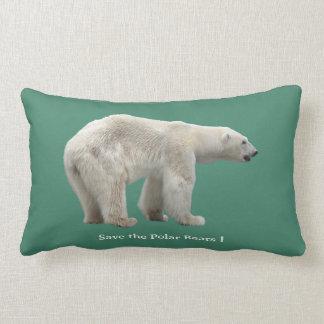 Polar bear lumbar cushion