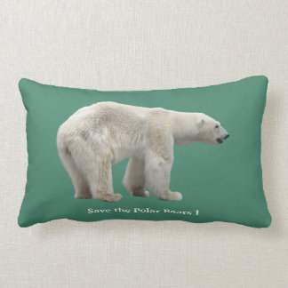 Polar bear lumbar pillow