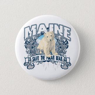 Polar Bear Maine 6 Cm Round Badge