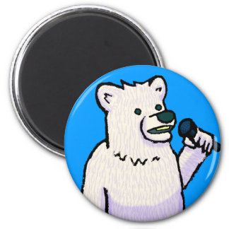 Polar Bear Mike 6 Cm Round Magnet