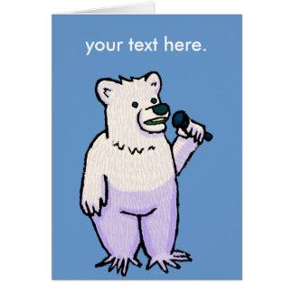 Polar Bear Mike Greeting Card