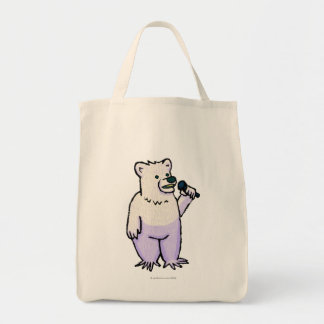 Polar Bear Mike Grocery Tote Bag
