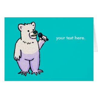 Polar Bear Mike Note Card