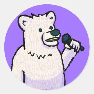 Polar Bear Mike Round Sticker