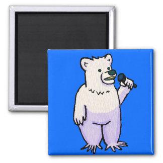 Polar Bear Mike Square Magnet
