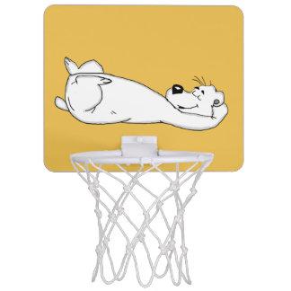 Polar bear mini basketball hoop