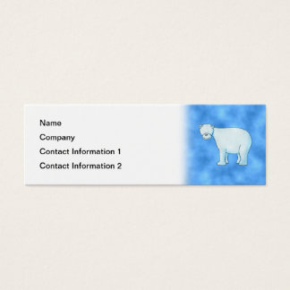 Polar Bear. Mini Business Card