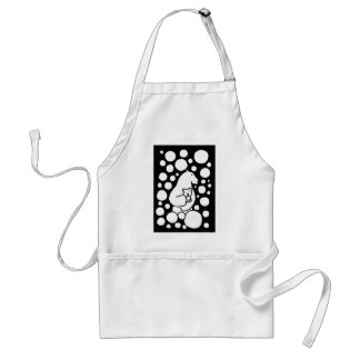 Polar Bear Mother and Baby in Snow Art Aprons