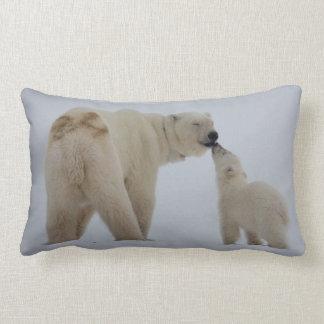 Polar Bear Mother with Cub Lumbar Cushion